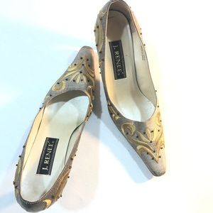 J Renee Stitched Gold Shoes